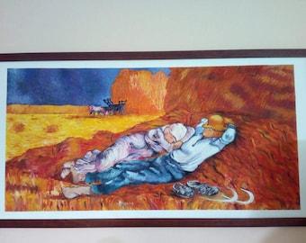 """Painting """"Peasants"""" by Vincent Van Gogh"""