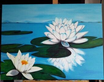 "Painting ""Lotus Flowers"""