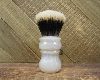 White Flame - Shaving brush handle with choice of knot, or 26mm handle only shaving handle (28mm socket)