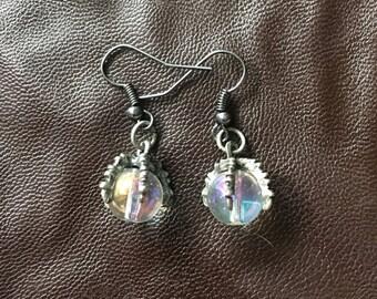 Crystal orb earrings