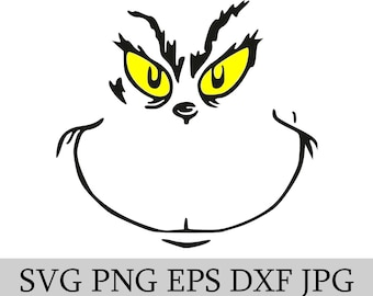 the grinch svg eps jpg png dwg digital download - Grinch Christmas Decorations Amazon