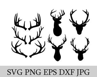 Deer & Antlers SVG EPS JPG png dwg Digital Download