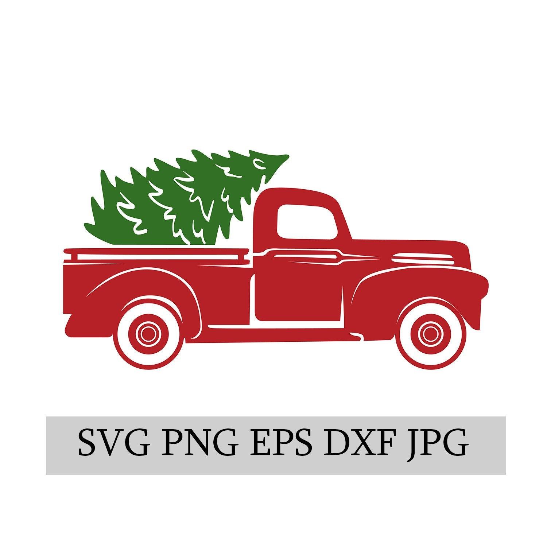 Christmas Truck & Tree SVG EPS JPG png dwg Digital ...
