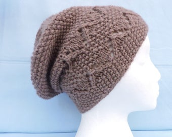 Slouchy hat, taupe