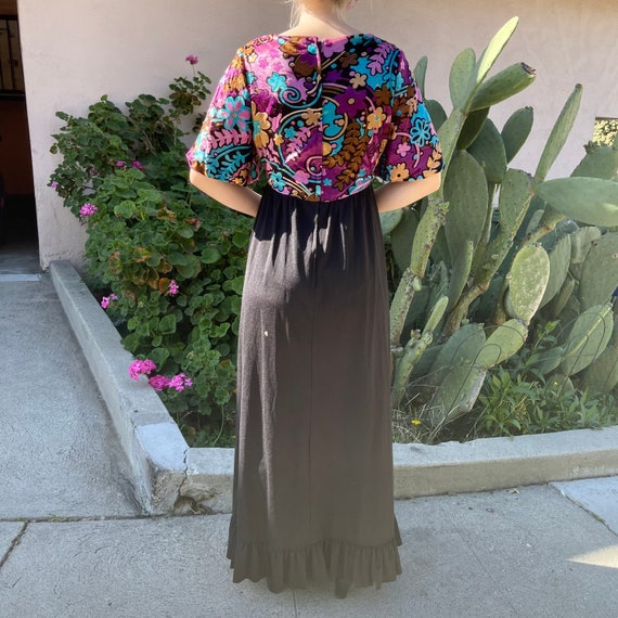 Vintage Velvet Maxi Dress - image 3