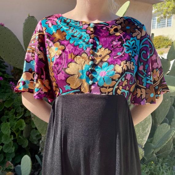 Vintage Velvet Maxi Dress - image 2