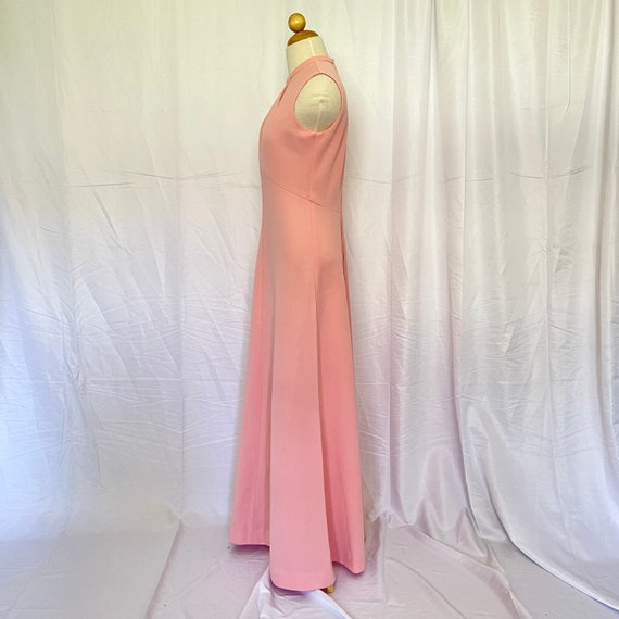Vintage 1970's Pastel Pink Maxi Gown - image 5