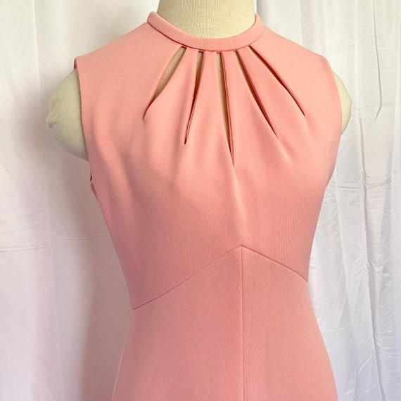 Vintage 1970's Pastel Pink Maxi Gown - image 2
