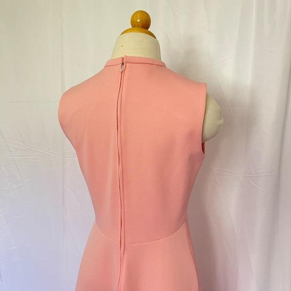 Vintage 1970's Pastel Pink Maxi Gown - image 4