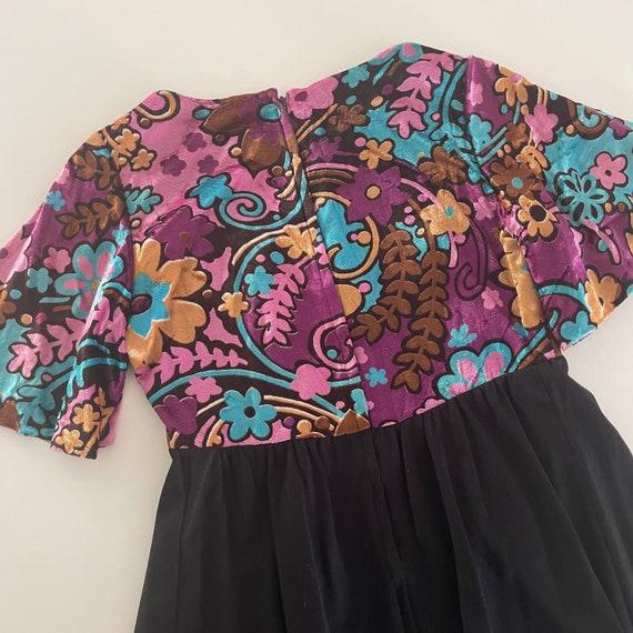 Vintage Velvet Maxi Dress - image 5