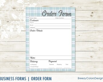 Custom Order Form Template Small Business Craft Show Must Etsy