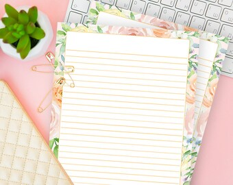 Mom Writing Sheet Insert For Her Wife Printable Lined Journal Page Stationery Paper With Lines Ruled Notebook Refill Download Boss