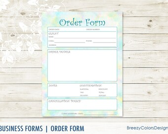 small business order form templates simple sales book for etsy