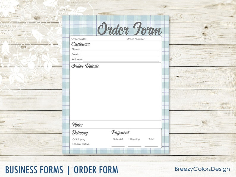 picture about Printable Order Forms named Buy Sort Template For Tiny Place of work, Printable Buying Sheet Plaid, Neighborhood Craft Display for Consumers, 8.5x11 Letter Dimension, Fast Obtain