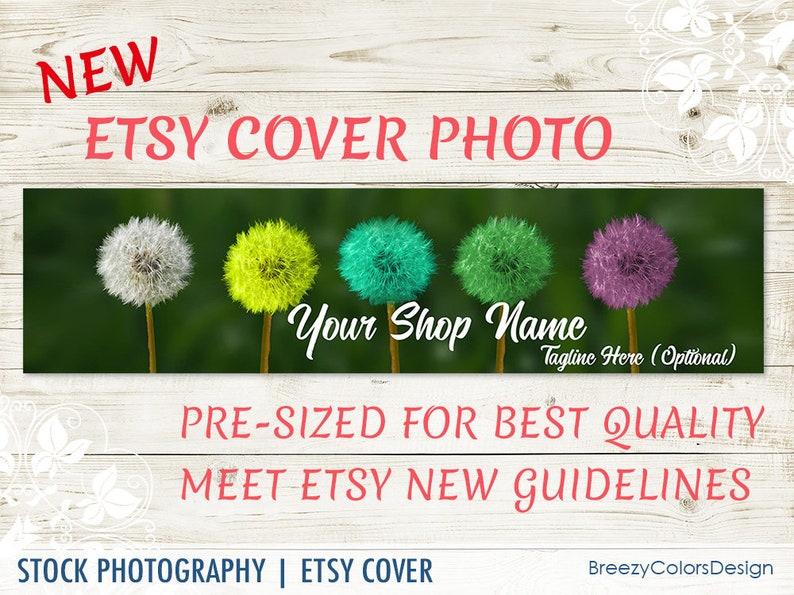 New Seller Header Background Premade Etsy Banner Nature Craft Business Large Cover Flower Download Custom Digital Shop Photo Graphics