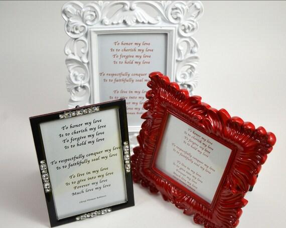 Poème De Fiançailles Couples Vœux Poème Damour Anniversaire Saint Valentin Vow Renewal Poème Encadré Poésie Encadrée Cadeau Pour Femme