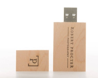 Light Rectangle Wooden Wood USB stick 2GB 4GB 8GB 16GB 32GB 64GB Personalised Customised Logo printing engrave etched flash drive photograph