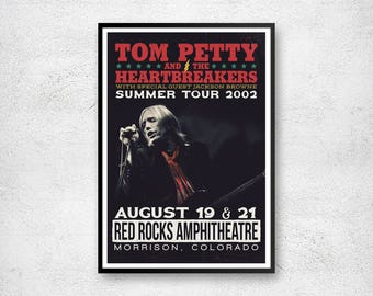Tom Petty Poster, Tom Petty and the Heartbreakers, Tom Petty Artwork, Tom Petty Print, Concert Poster, Retro Print, Vintage Rock Poster