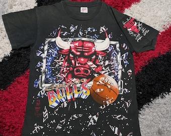 2fed5578b Vintage 90 s Chicago Bull Full Print T-shirt