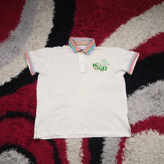 RARE!!! Vintage Kenzo Golf Collared T-shirt | Rain