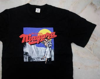 "Authentic ""Vintage Niagara x Wrangler T-shirt BOX LOVERS (Black / M size)"" |"