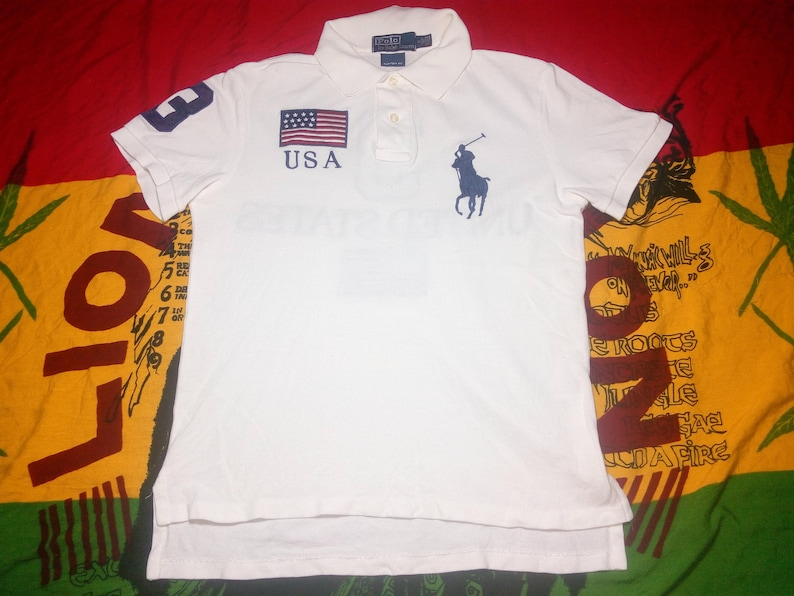 Vintage Polo Ralph Lauren Custom Fit Big Polo Logo Embroidery Etsy