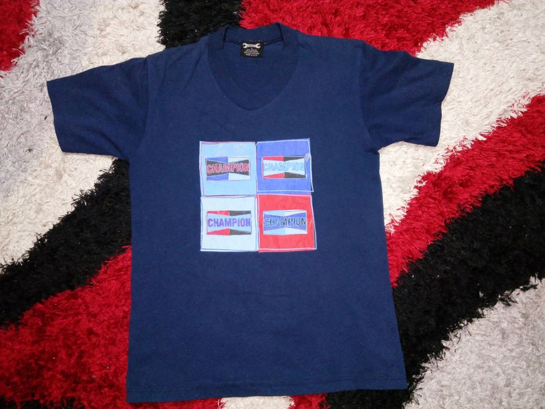 RARE!!! Vintage 90's Champion Spark Plug T-Shirt | Small Spell Out Print |  Small Size | Made in USA