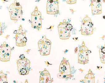 Birdcage Print Minky Baby Blanket