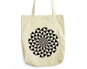 Kaleidoscopic Sun II canvas tote bag