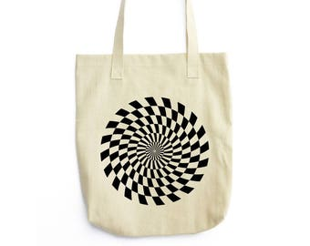 Kaleidoscopic Sun I canvas tote bag