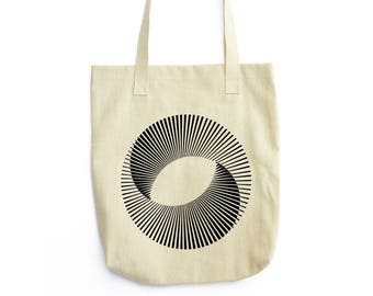 Mobius Sun Science Art canvas tote bag