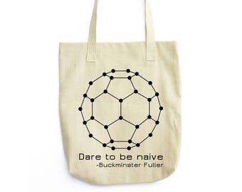 The Naive Fullerene science tote bag