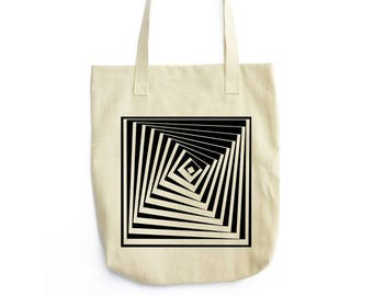 Twisted Pyramid Vertigo canvas tote bag