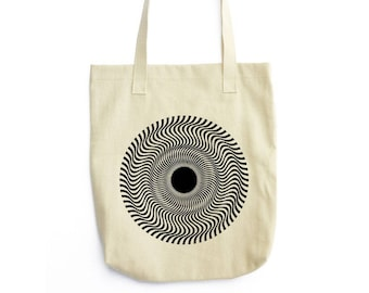 Vertigo geometric art tote bag