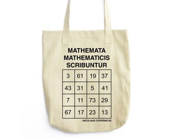 Copernicus Prime Magic Square tote bag