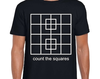 Count the Squares math art t shirt