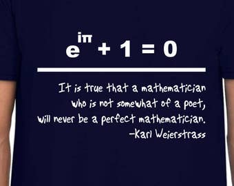 Euler's Identity and Weierstrass tshirt