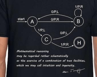 Turing Machine science art t shirt
