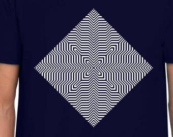 X Echo Optical Illusion art t shirt