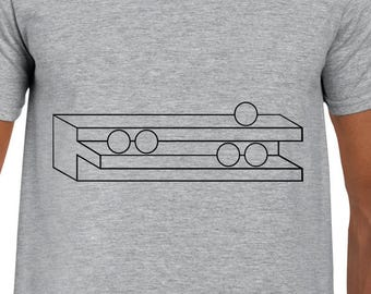Shelf and Spheres Illusion art t shirt