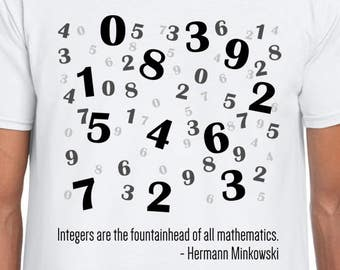 Integers math art cool t shirt