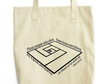 What Asimov Said tote bag gift