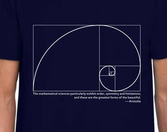Fibonacci Spiral and Aristotle t-shirt