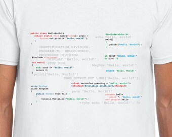 Hello World Computer Code funny t shirt