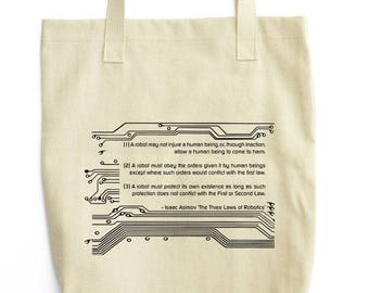 The Three Laws of Robotics tote bag
