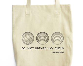 Five Platonic Solids shoulder tote bag