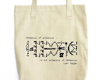 Carl Sagan and Interstellar Message bag