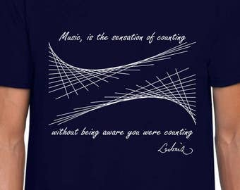 The Hidden Math of Music t-shirt