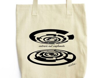 Bohr's Opposites art cotton tote bag