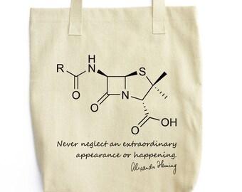 Fleming and Penicillin Molecule bag